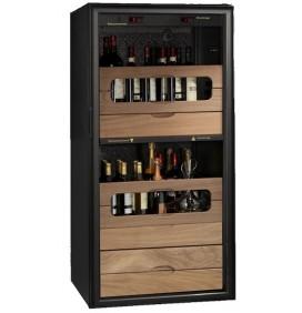 """Cave à vin polyvalente - """"LA VITIDUO"""" noire"""