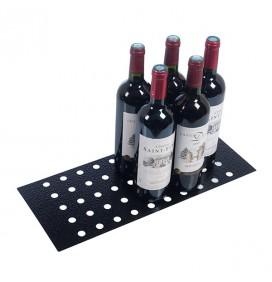 Demi-plaque métallique pour présentation de bouteilles