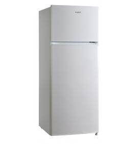 Réfrigérateur double porte 204L, classe A++, 3 clayettes en verre