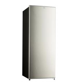 Réfrigérateur armoire 225L, Classe A++, corps noir porte inox, 3 clayettes verre