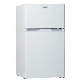 Réfrigérateur 71L net, double porte. Classe A+ compartiment congélateur, 2 clayettes verre