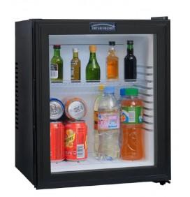 Minibar porte vitrée 28 litres, refroidissement par technologie hybride, éclairage intérieur par LED, 1 clayette, classe A