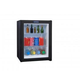 Minibar porte vitrée 40 litres, refroidissement par technologie hybride, éclairage intérieur par LED, 2 clayettes, classe A+