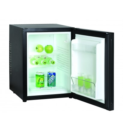 Minibar porte pleine 40 litres, refroidissement par technologie hybride, éclairage intérieur par LED, 2 clayettes, classe A+