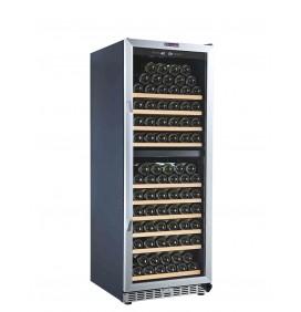 Cave de vieillissement et de mise à température double zone 135 bouteilles, Pose libre ou encastrable. Classe énergétique G.