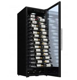 Cave de vieillissement 152 bouteilles, Présentation horizontale des bouteilles. Classe énergétique G.