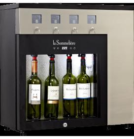 Distributeur de vin au verre électronique 4 bouteilles